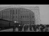 Visitors arrive at Lakehurst Naval Air Station to see airship LZ 129 Hindenburg. HD Stock Footage