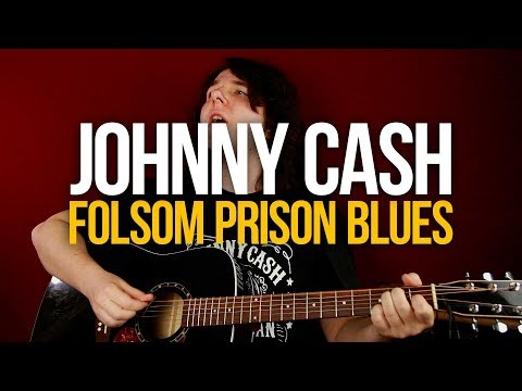 Как играть кантри на гитаре Johnny Cash Folsom Prison Blues вместе с соло