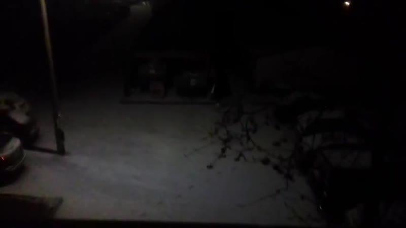 Первый снежечек ебанул