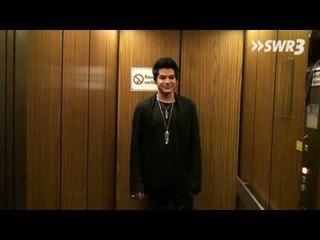 Adam Lambert bei der SWR3-Fahrstuhlmusik (mit Gabriella Cilmi)