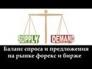 Спрос-предложение на бирже и форекс