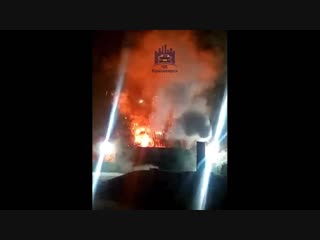 Пожар на складе аккумуляторов
