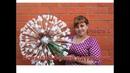 DIY Ростовые цветы Огромный белый одуванчик из изолона Часть 1 White dandelion of isolone