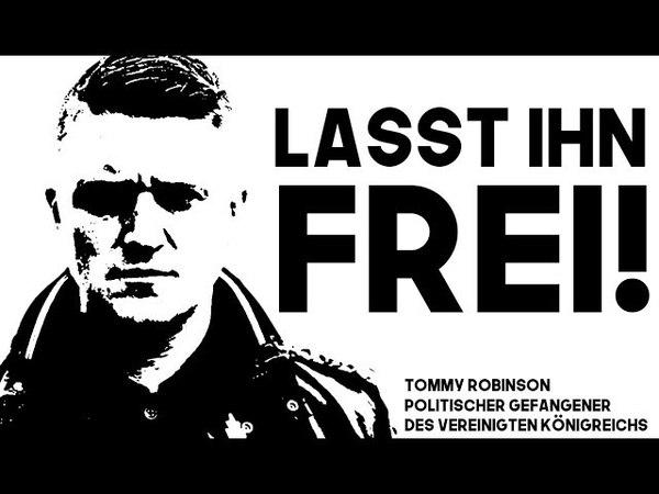 Freiheit für Tommy Robinson: Patrioten Europas steht vereint