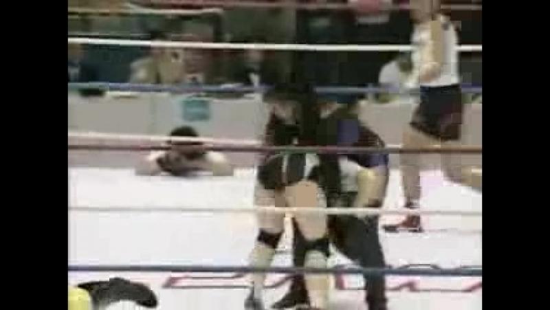 Candy Okutsu, Dynamite Kansai vs. Devil Masami, Hikari Fukuoka (JWP Beijing 1995516)