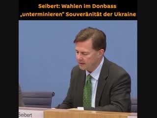 """Seibert: Wahlen im Donbass """"unterminieren"""" Souveränität der Ukraine"""