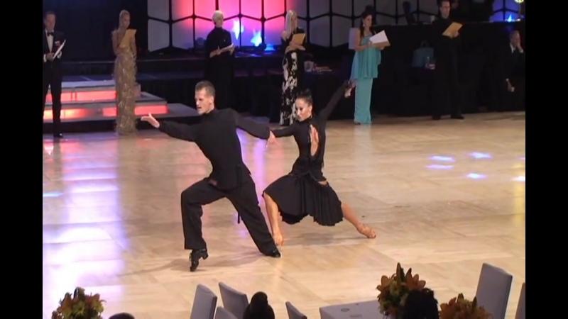 89. 08.09.2015 США, Флорида, Орландо. United States Dance Championships. US National Pro Rising Star Latin. Румба. С Анастасией