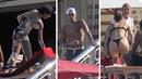 Bella Hadid and Winnie Harlow in skimpy thong bikini during holiday with Lewis Hamilton