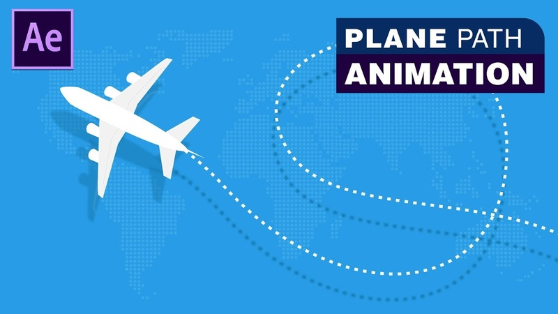 Plane Path Animation - Adobe After Effects Tutorial | Download Source File