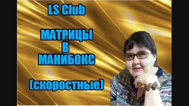 LS Club МАТРИЦЫ В МАНИБОКС скоростные