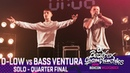 D-Low vs Bass Ventura Solo Quarter Final 2018 UK Beatbox Championships
