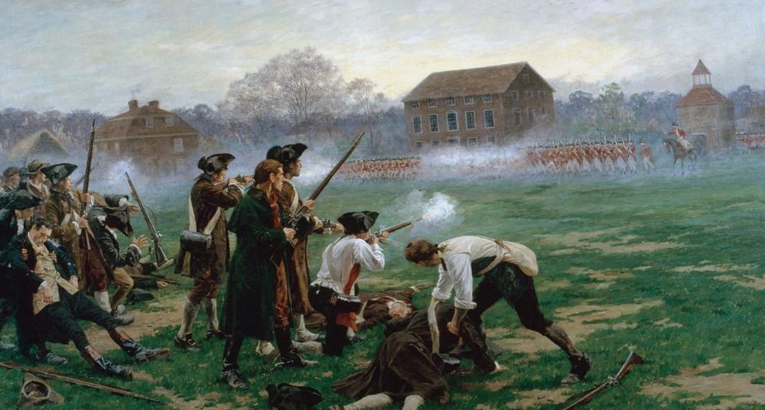 Бой с англичанами