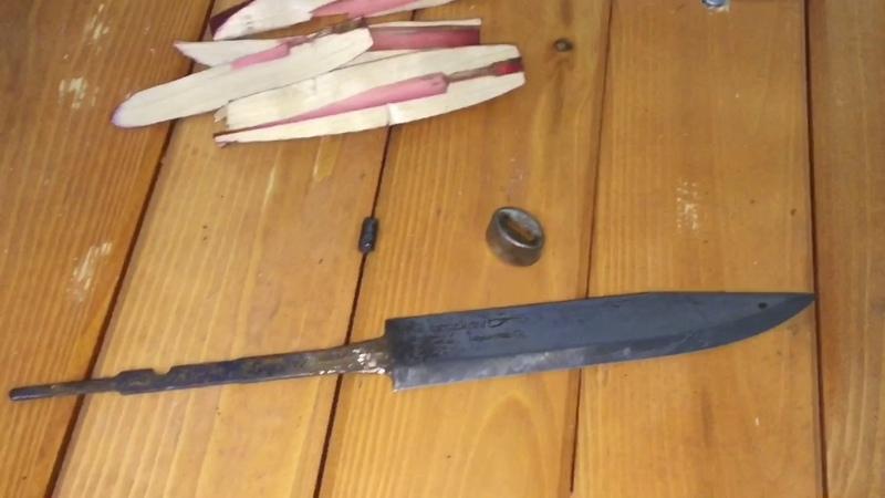 Нож Mora классик 3, краш тест