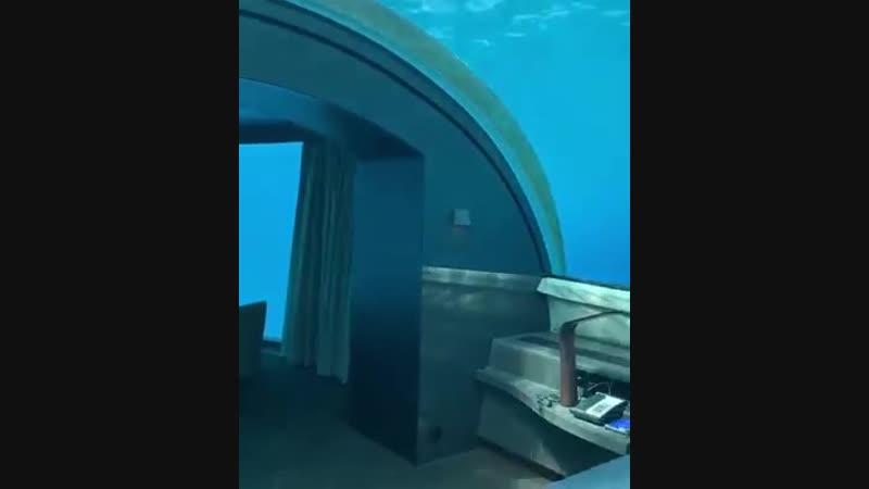 Describe this Underwater Hotel Room in ONE word: 🌍 The Muraka, Maldives 🇲🇻 🌴 🐠 🐟
