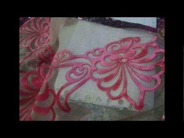طريقة النقش علىالملابس بزهور من قماش القط1