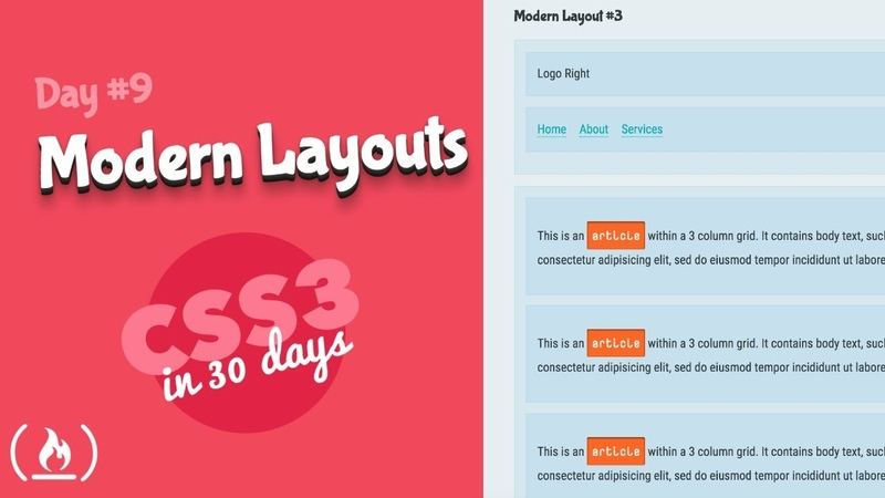 Modern Layouts: CSS Tutorial (Day 9 of CSS3 in 30 Days)