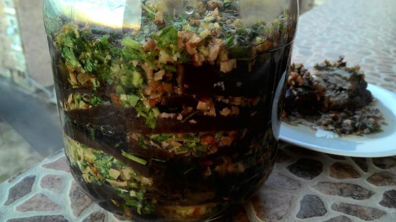 Баклажаны по-армянски на зиму Магаданоси/Eggplants in Armenian for the winter
