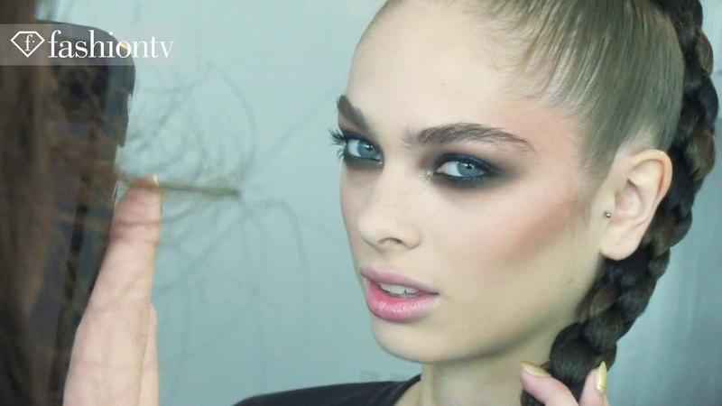 Hair Makeup - Models Makeup Backstage at Jeremy Scott Spring/Summer 2013 | New York Fashion Week NYFW |FashionTV