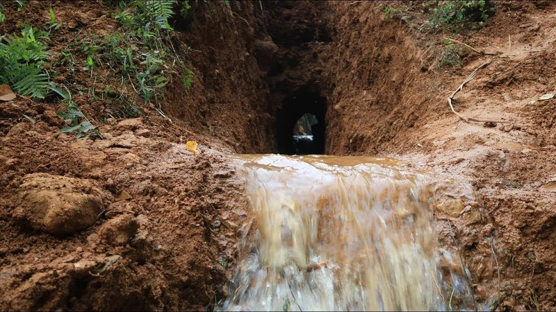 Primitive Technology Drainage tunnel