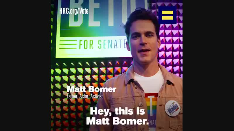 Actor and Texas native Matt Bomer is urging EqualityVoters across the Lone Star State to TurnOUT for pro-equality champion BetoO