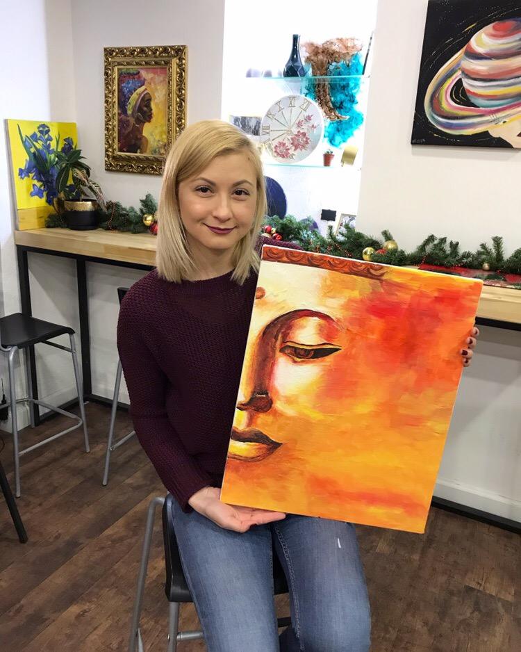 художественные мастер-классы, картина за 3 часа, интерьерная картина