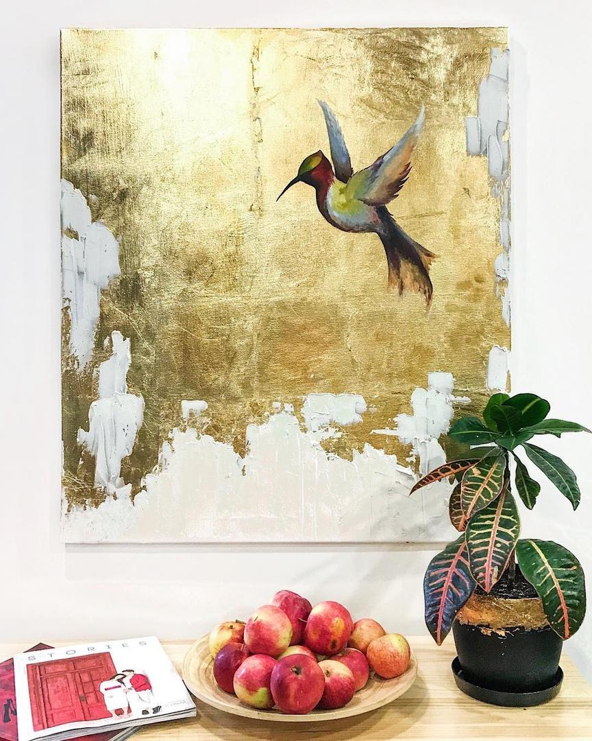картина с поталью, художественные мастер-классы, поталь, мастер-классы спб, интерьерная картина