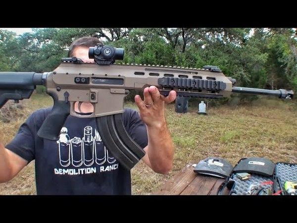 Гибрид AR-15 и калаша против керамической брони | Разрушительное ранчо | Перевод Zёбры