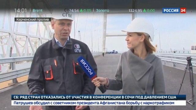 Новости на «Россия 24» • Проверка на прочность: по Крымскому мосту прошла колонна 35-тонных самосвалов
