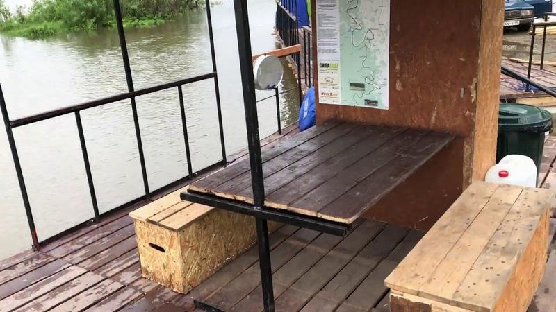 Маленький плот для сплава по рекам