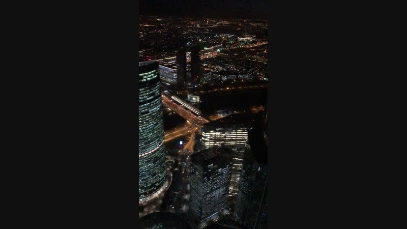 Ночная Москва с 89 этажа