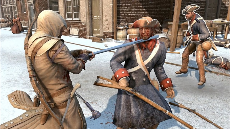 Assassins Creed 3 Achilles Outfit Combat Free Roam in New York