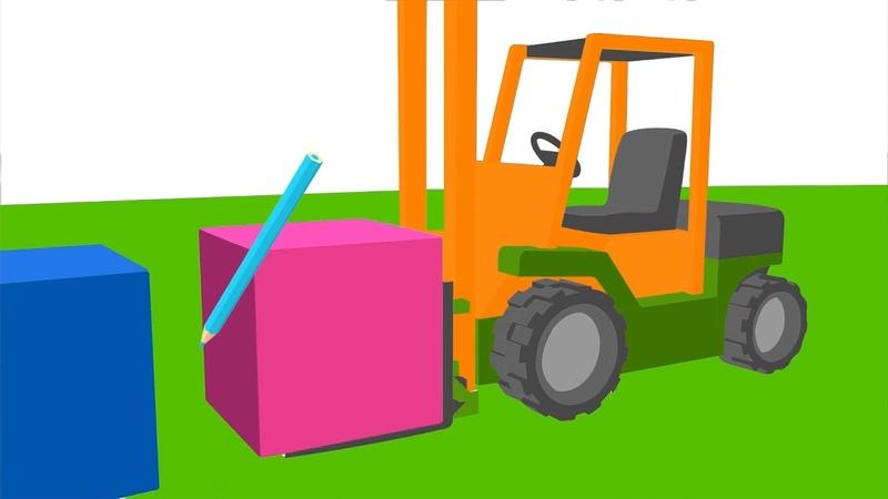 Leo il camion curioso colora un muletto