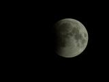 Лунное затмение - начальная фаза (таймлапс)