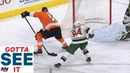 Gotta See It Nolan Patrick Goes Between His Legs For Fantastic Goal Against Wild