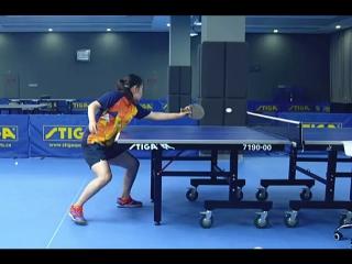 Видеоурок по наиболее выгодному положению ног в игре от тренера zou yang