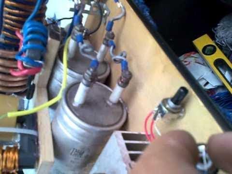 Заряд с качера конденсаторов в металлическом и пластиковом корпусах