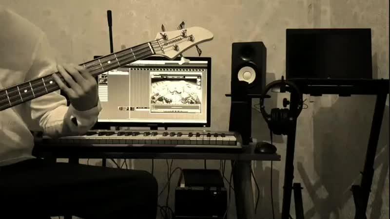 Аранжировка песни, записываю бас гитару 🎼🎵🎶🎸🎧