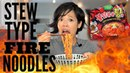 STEW Type FIRE Noodle Challenge Samyang Spicy Chicken Ramen