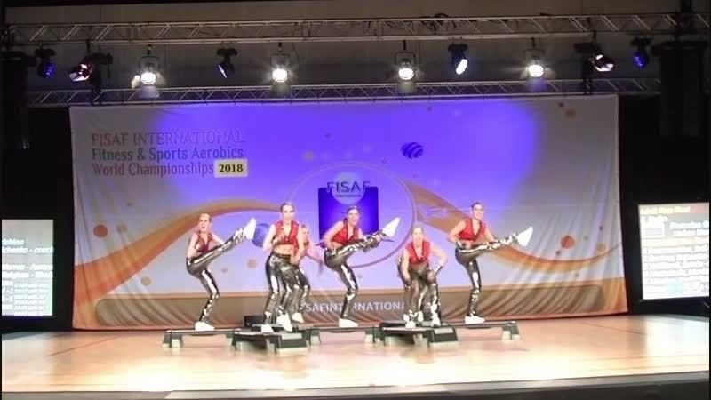 FISAF Int World Fitness HHU Championships 2018. Final adult Step: Strike (RUS)