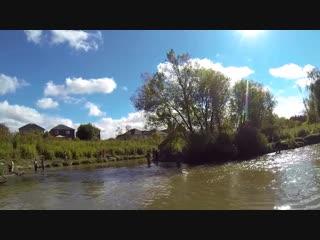 SALMON FISHING ON THE CENTERPIN - RAVEN RV9 - KINGPIN R2 - 10_4_14