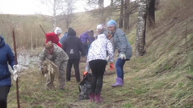 Очередной субботник по уборке территории. г.Белозерск 4.05.2018 г.