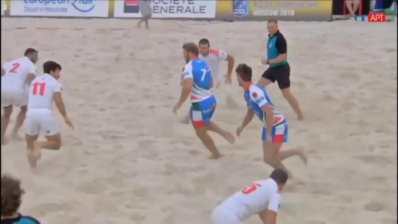 Чемпионат Европы по пляжному регби 2018 Италия - Грузия (муж.) полуфинал