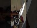 Нож на коленках на балконе без гриндера и точила без эпоксидки и клея
