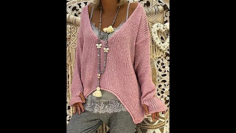 Новые Модели Вязаных Свитеров Спицами - 2019 New Models Of Knitted Sweaters Knitting