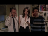 how I met your mother 5х21 Робин, Барни и Тед