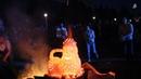 Огненная скульптура Фестиваль Куманець Мена 2018