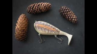 How to make a lure out of a spruce cone