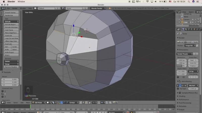 Гоша Дударь Blender 3D моделирование Урок 6 Создание мультяшного героя