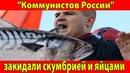 В Ульяновске сторонников партии Коммунисты России закидали скумбрией и яйцами