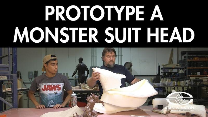 Prototype a Monster Suit Head: Kaiju Foam Fabrication